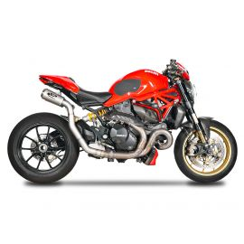 Spark Ducati Monster 1200 2 MOTOGP silencers underseat (left and right side) + 1in2 pipe