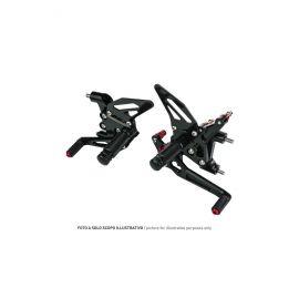 Accossato verstelbare achterset zwart, HONDA CBR600RR (04-06)