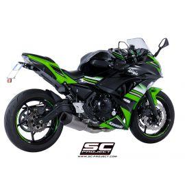 SC-project volledig uitlaat systeem Kawasaki Ninja 650 met SC1-R demper EU4 gekeurd
