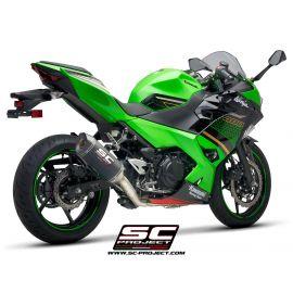 SC-project volledig race uitlaatsysteem Kawasaki Ninja 400 met SC1-M demper