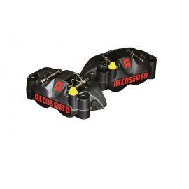 Accossato remklauwen set monoblock steek 108mm incl sinter remblokken zwart geannodiseerd