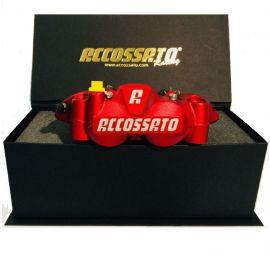 Accossato remklauwen set monoblock steek 108mm incl sinter remblokken racing red