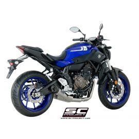 SC-project volledig uitlaatsysteem Yamaha MT-07 met S-1 demper